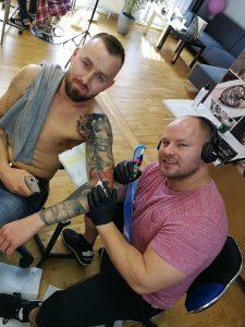 tatuaze meskie rękaw - Szkolenia w Ponton Tattoo School