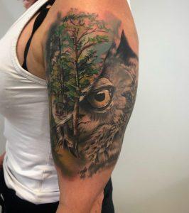 sowa tatuaż wzory - Szkoła tatuażu realistycznego